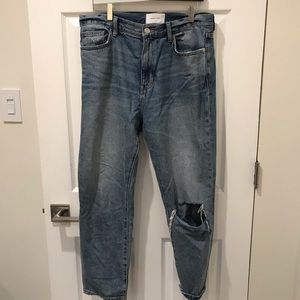 Current/Elliot distressed ankle crop jeans size 31